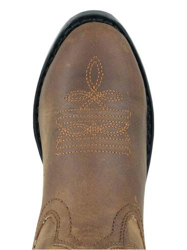 Smoky Denver Western Cowboy Boots Leather Embroidery