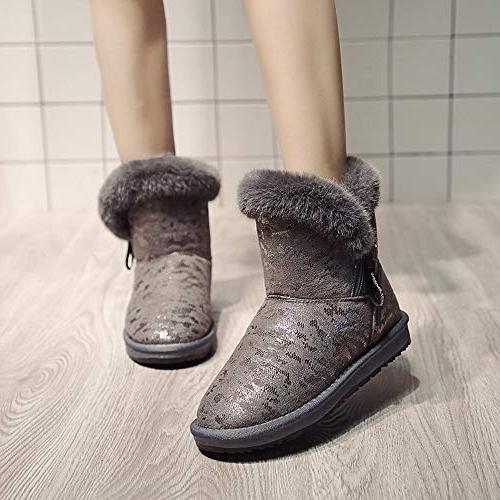Woman Casual Print Round Warm Shoes