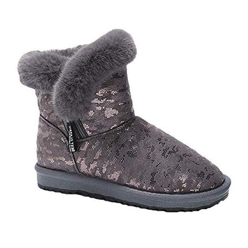 snowboots for woman casual leopard print round