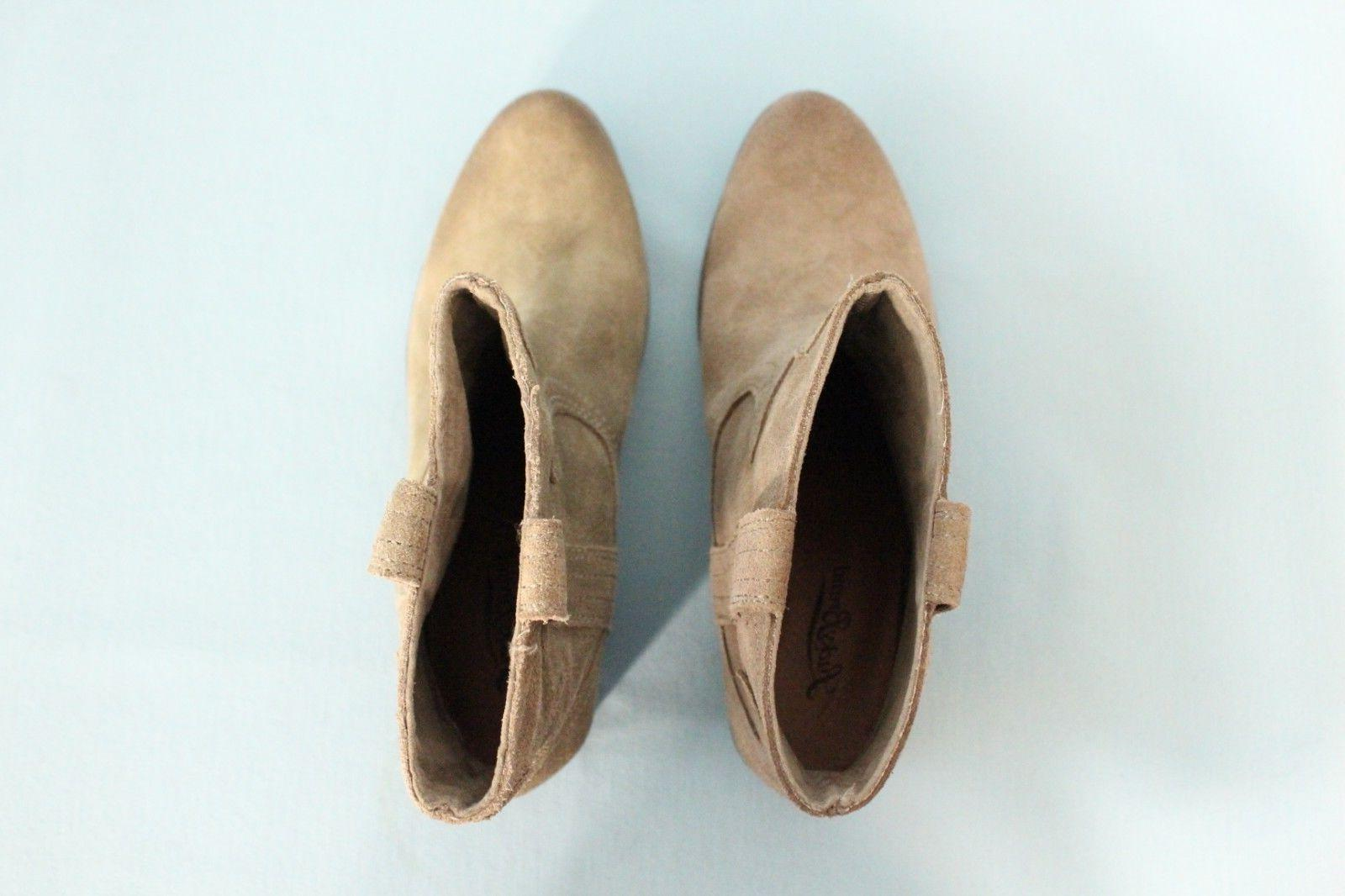 Lucky Brand Ankle Suede Tan 7.5M