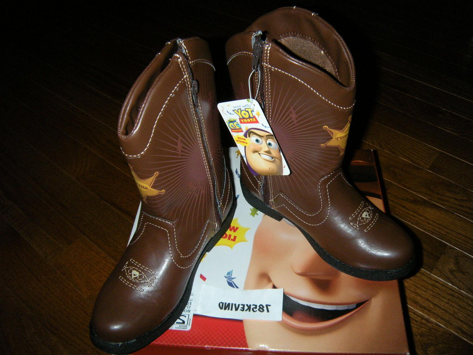 Toddler Boys' TOY 2 Light-up Western Boots size