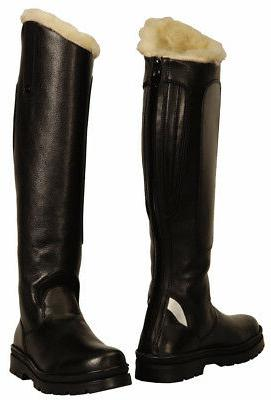 tundra fleece lined winter tall riding boots