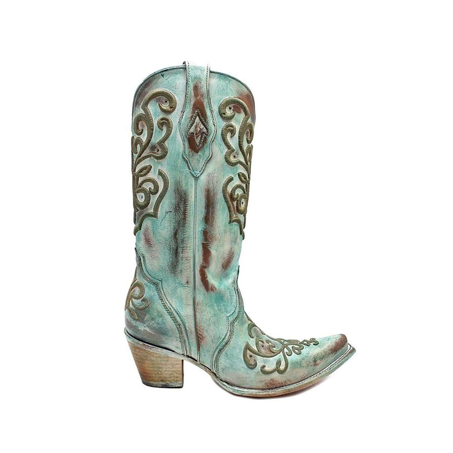 CORRAL BOOTS TURQUOISE STITCH SIZE 7 PIONEER