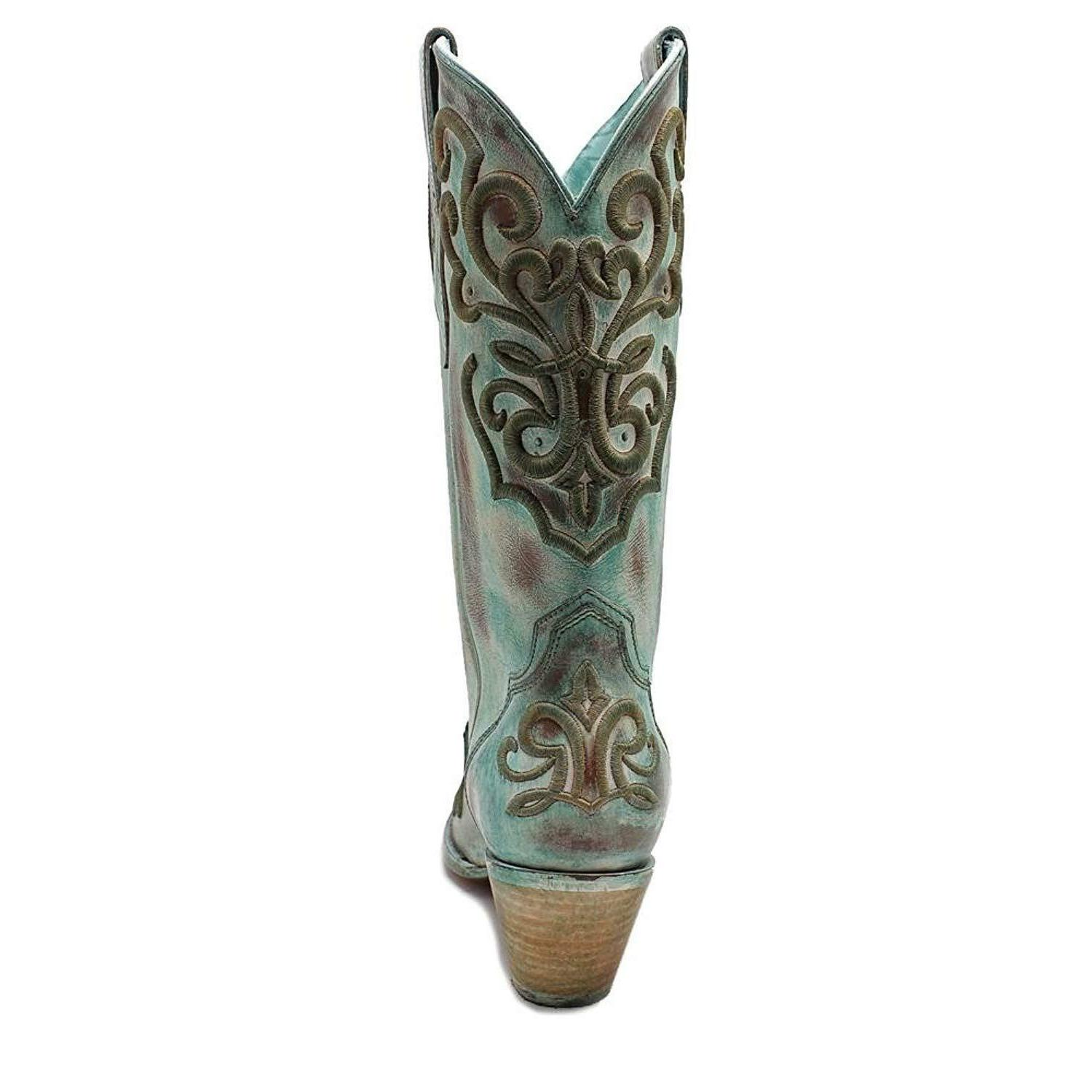 CORRAL BOOTS TURQUOISE STITCH PIONEER