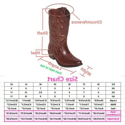 US Ship New SheSole Womens Boots Cowgirl Size