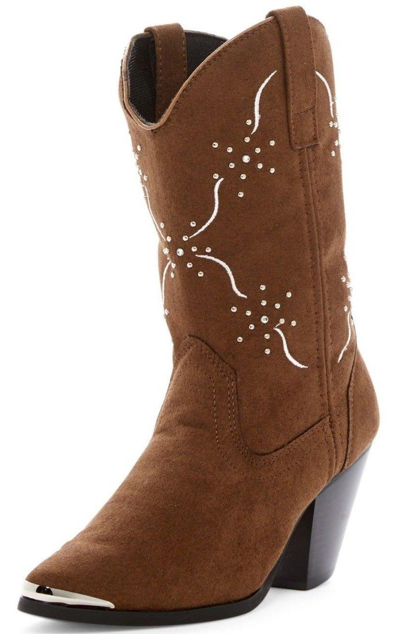 Dingo Western Boots Women 10 Studs Embroidered DI 563