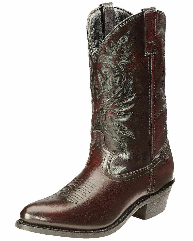 western boots mens london round toe cowboy
