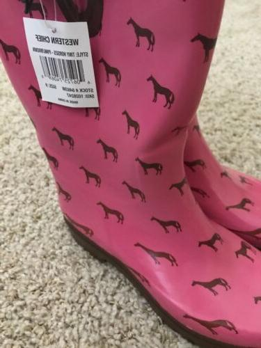 Western Western Pink Buckle Boots 9
