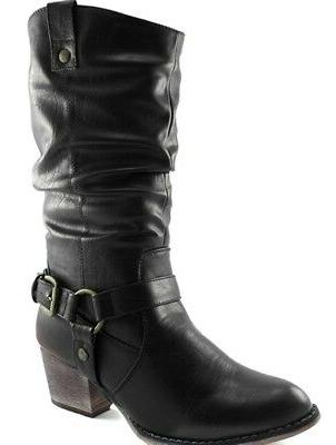 western womens slouch mid calf ankle strap