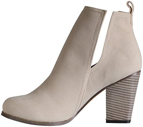 Chase & Willy-3 Side Bootie US, Nude)