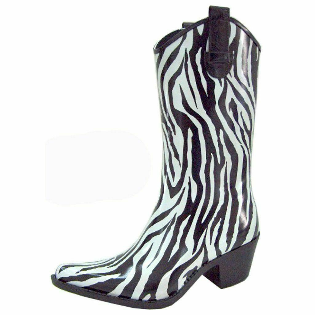 woman s puddles cow girl western zebra