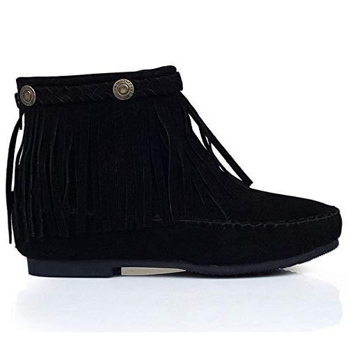 Boots Low Heel Ankle Boots Bootie Boots Round Toe Size