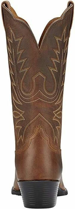 Ariat Brown Heritage Round Cowgirl Boots