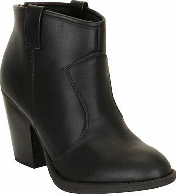 women s country western stacked chunky heel
