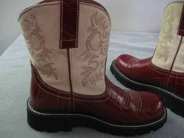 Ariat Fatbaby Western Boots Red Cr Print