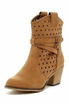 women s laser cut perforated western cowboy