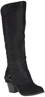 Fergalicious Women's Lexy Western Boots, Tall Slouched Leath