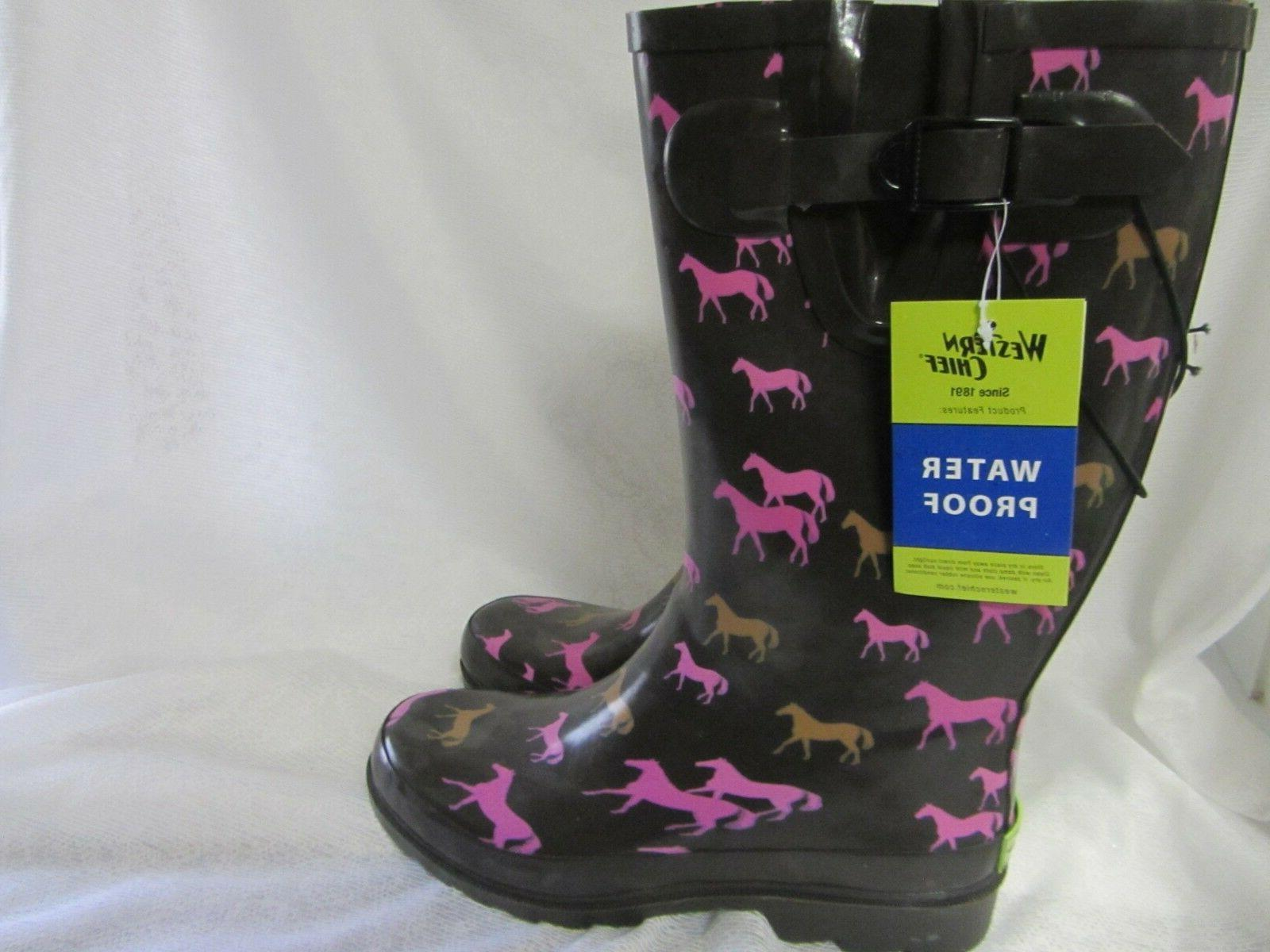 Western Tall Horses Muck Boots New