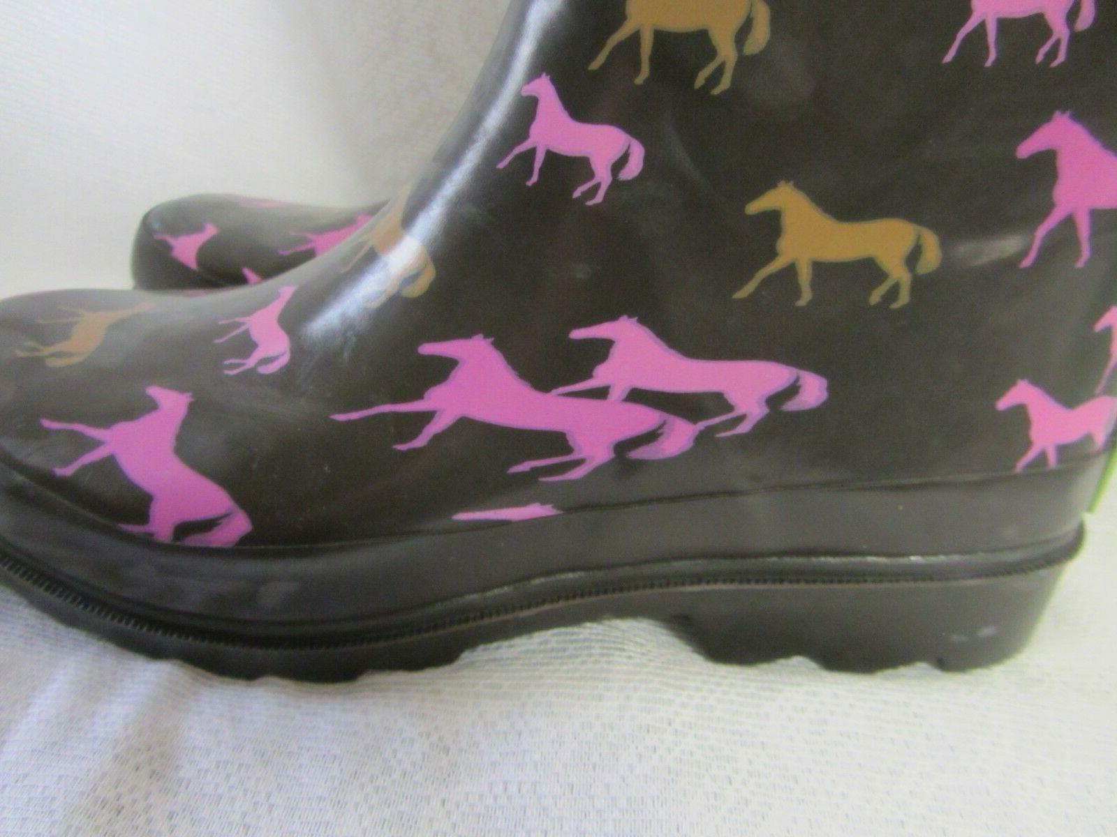 Horses Rubber Muck Boots New