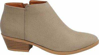 women s western chunky stacked block low