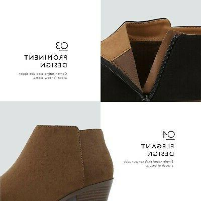 Booties Comfortable Chunky Pointed