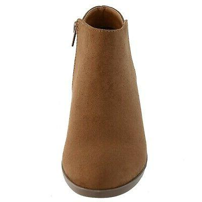 DailyShoes Booties Chunky Pointed Toe...