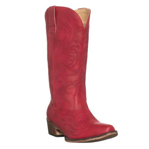 women s western cowgirl cowboy boot red