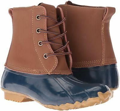 Western Four-Eye Lace-Up Duck Rain Boot 9 M