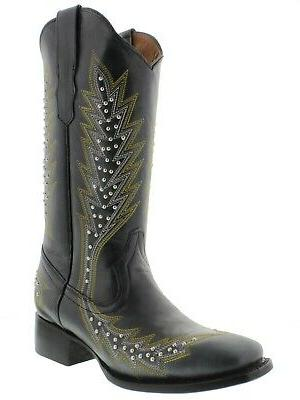 Womens Boots Silver Square Toe