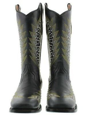 Womens Cowgirl Boots Square Toe
