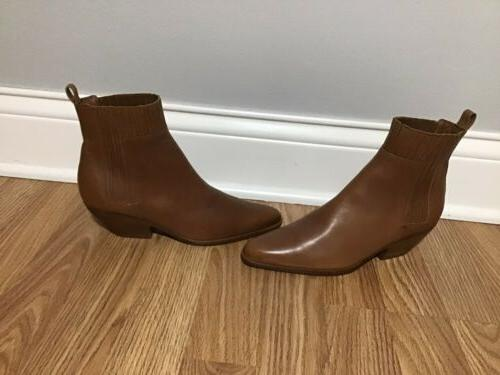 Womens Vince Boots Western Chelsea Leather Booties