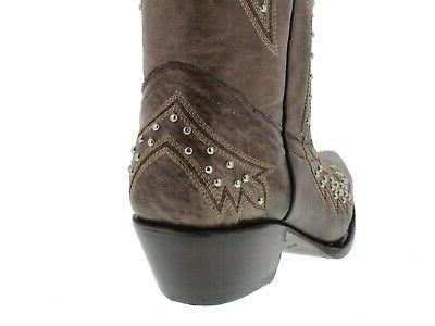 Womens Cowgirl Boots Embroidered Snip Toe
