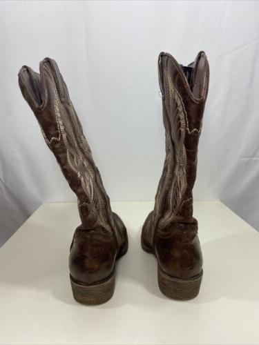 Coconuts Womens Faux Leather Brown Boots Size 8M