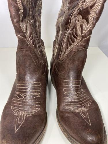 Coconuts Leather Brown Boots Size