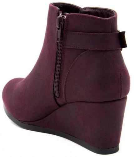 London Womens Wedged Ankle Buckle