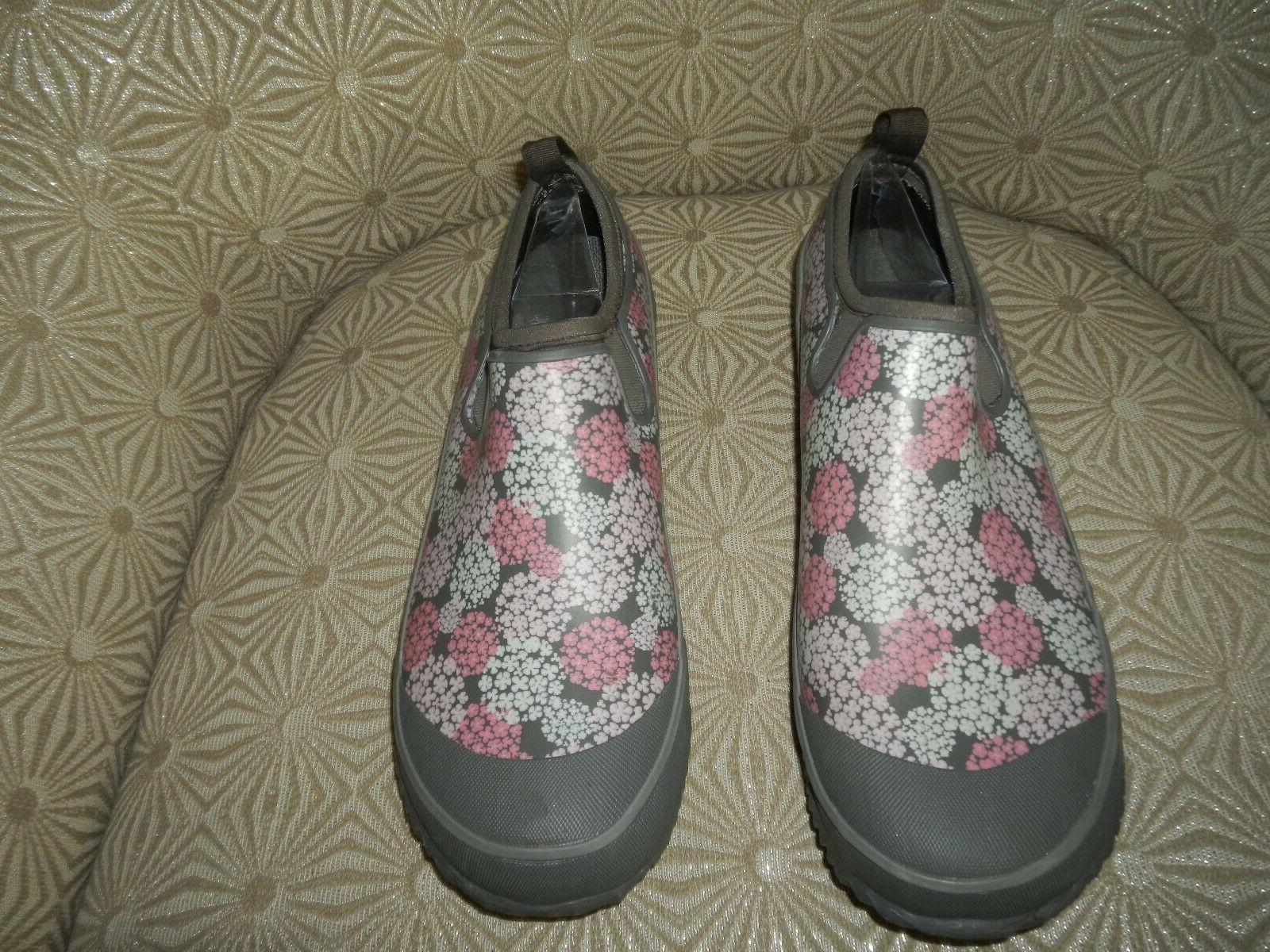 WESTERN Womens Step Gray/Pink/White Boots NEW