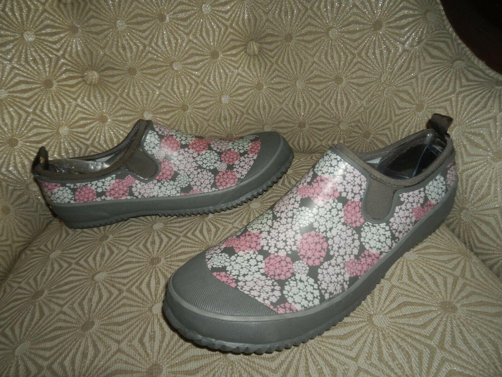 WESTERN Step In Gray/Pink/White Boots 11M NEW
