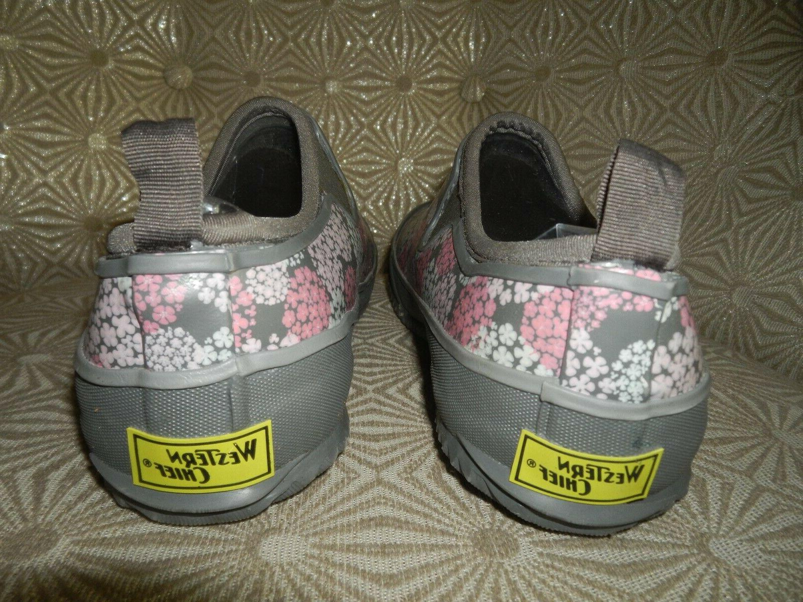 WESTERN Step Gray/Pink/White Boots NEW