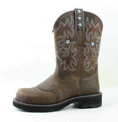 womens probaby driftwood brown cowboy western boots