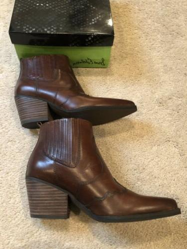 Sam Edelman Brown Western Boots Booties Size 6.5 NWB $160