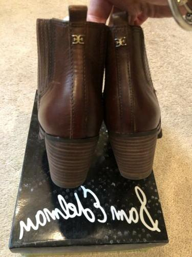 Sam Womens Brown Booties Size 6.5 $160