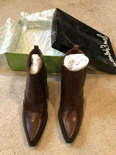womens winona brown cowboy western boots booties