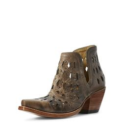 Ariat® Ladies Dixon Studded Ash Brown Western Ankle Boots 1