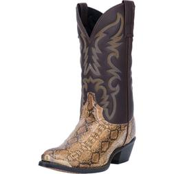 Laredo Mens Monty Western Cowboy Boots Leather Snake Print S