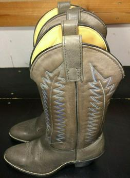 Wrangler Leather Cowboy Boots Women 8M  Made in USA