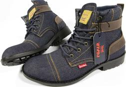 LEVI'S Artesia Denim Boots- NEW- Levis western hipster red t