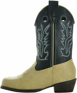 Country Love Boots Little Kids Two-Tone Square Toe Cowboy Bo