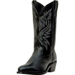 Laredo London Mens Basic Import Leather Cowboy Western Boot,