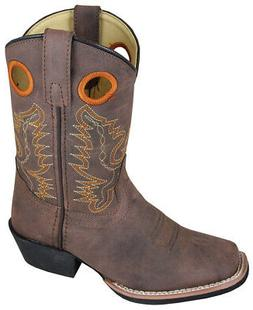 Smoky Mountain Kids MEMPHIS Square Toe Boot 1.5R Distressed