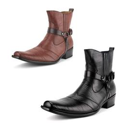 Delli Aldo Men's 698 Calf High Western Style Riding Cowboy C